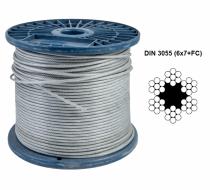 Канат (трос) стальной оцинкованный, DIN 3055 (6x7+FC), DIN 3060 (6x19+FC), DIN 3066 (6x37+FC)